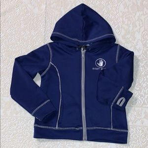 Body Glove Navy Full Zip Athletic Hoodie 4T EUC